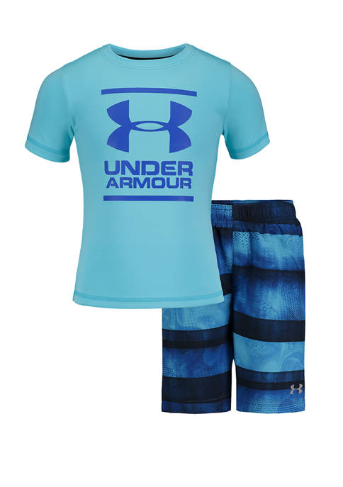 Under Armour® Toddler Boys 2 Piece Stripe Volley