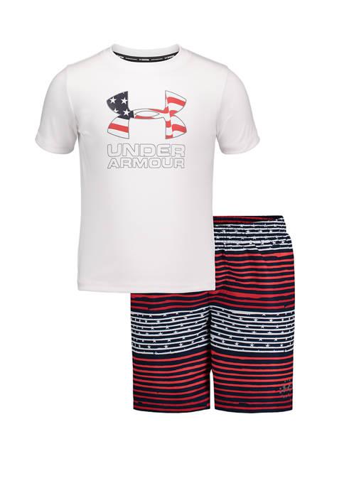Toddler Boys Freedom Gradient Stripe Swim Set
