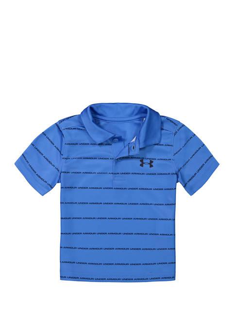 Under Armour® Baby Boys Wordmark Stripe Polo Shirt