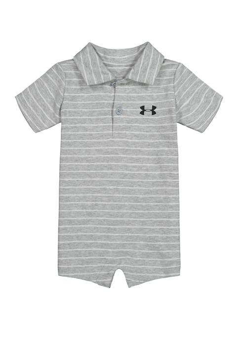 Baby Boys Stripe Polo Shortalls