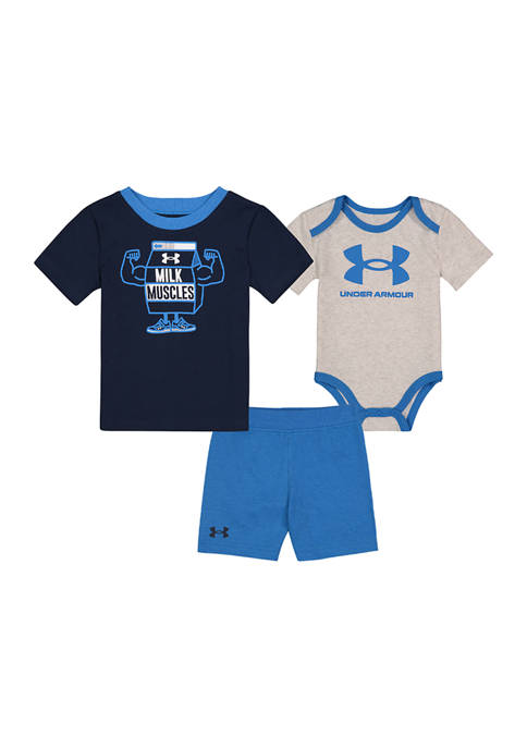 Under Armour® Baby Boys 3 Piece Milk Muscles