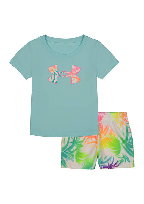 Under Armour® Baby Girls Palm Print Graphic Set