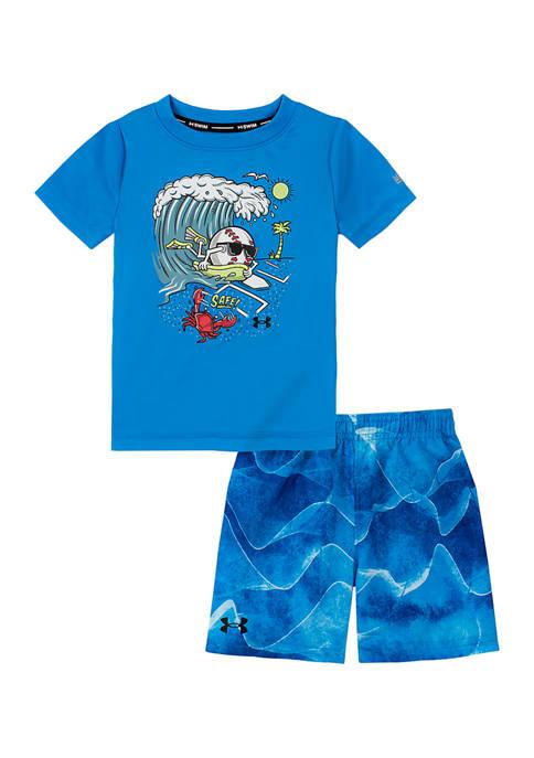 Baby Boys Graphic Printed Swim Set