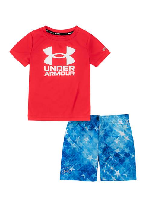 Under Armour® Baby Boys Americana Swim Set
