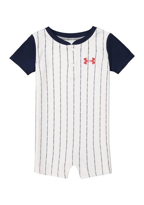 Under Armour® Baby Boys Pinstripe Shortalls