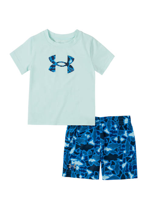 Under Armour® Baby Boys Camouflage Hook Graphic Set