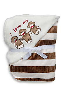Sock Monkey Blanket Newborn