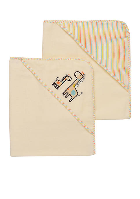 Neutral Giraffe Hooded Towel Set