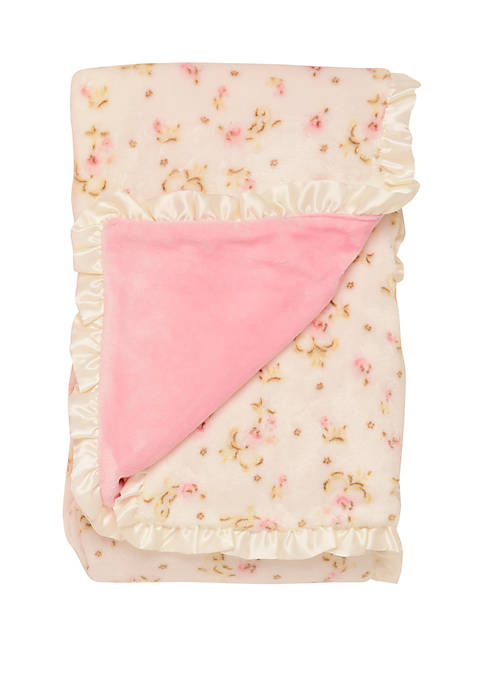 Little Me Baby Girls Vintage Rose Blanket with