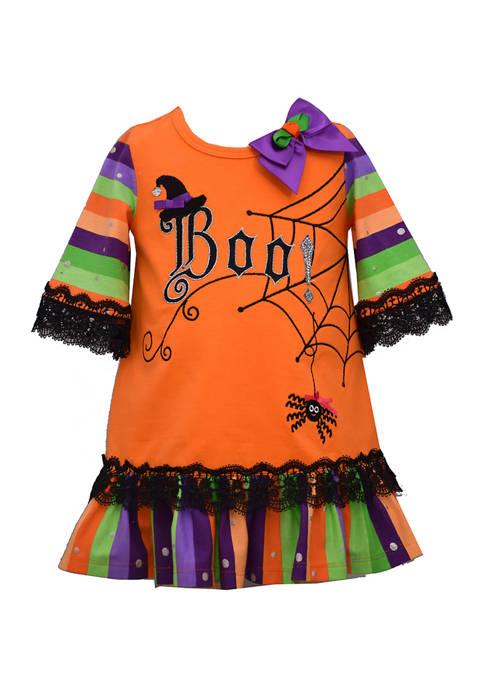 Bonnie Jean Baby Girls Boo Striped Dress