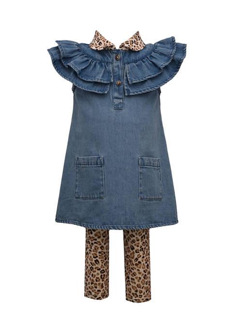 Bonnie Jean Baby Girls Denim Dress and Printed