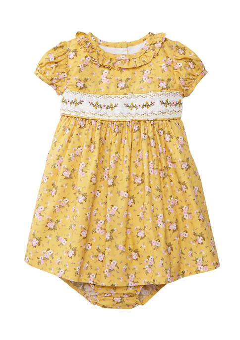 Bonnie Jean Baby Girls Smocked Dress with Panty