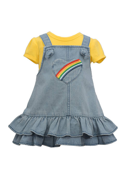 Bonnie Jean Baby Girls Denim Heart Dress with