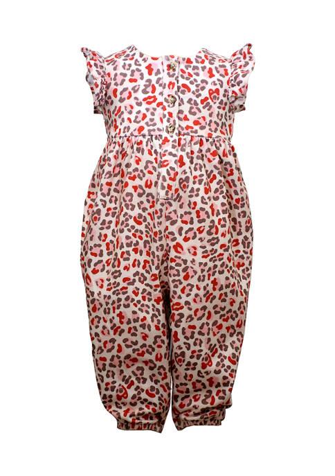 Bonnie Jean Baby Girls Leopard Jumpsuit