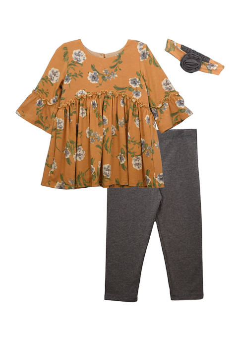 Bonnie Jean Baby Girls Floral Top and Leggings