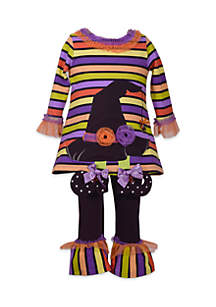 Infant Girls Witch Hat Set