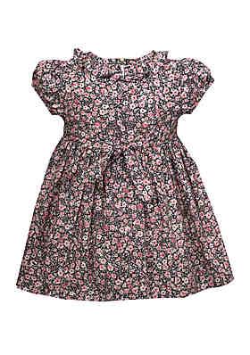 de9f219eb8f ... Bonnie Jean Baby Girls Printed Ditsy Floral Smocked Dress