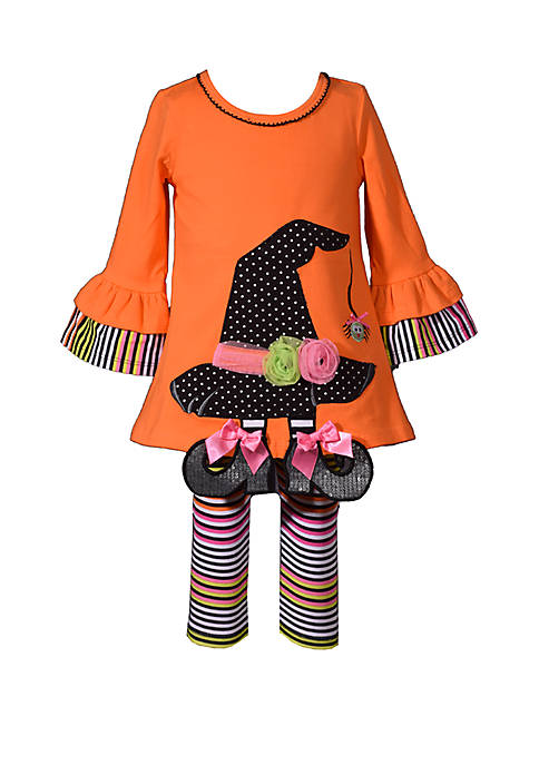 Bonnie Jean Baby Girls Witch Hat Top and