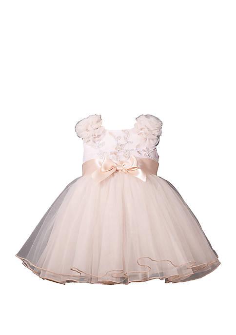 Bonnie Jean Baby Girls Embroidered Mesh Ballerina Dress