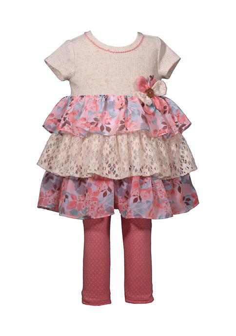 Bonnie Jean Baby Girls Tiered Ruffle Leggings Set