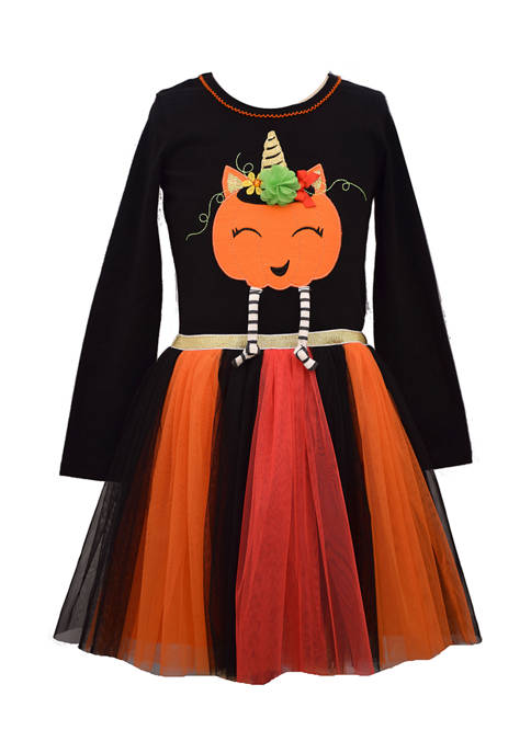 Toddler Girls Pumpkin Tutu Dress