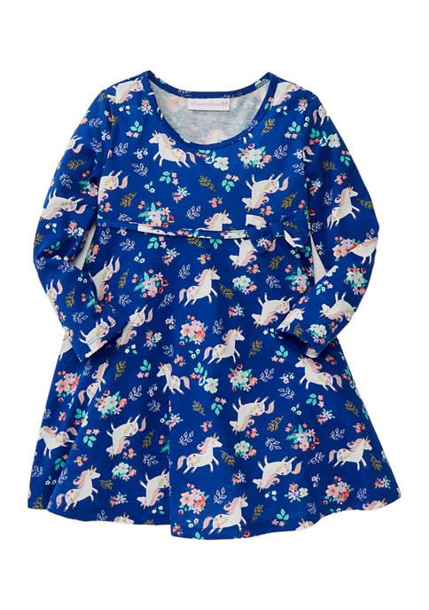 Bonnie Jean Toddler Girls Long Sleeve Knit Skater