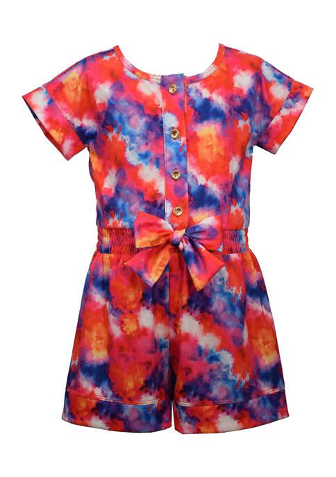 Bonnie Jean Toddler Girls Knit Tie Dye Romper