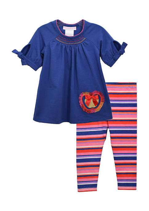 Bonnie Jean Toddler Girls Apple Fringe Top with