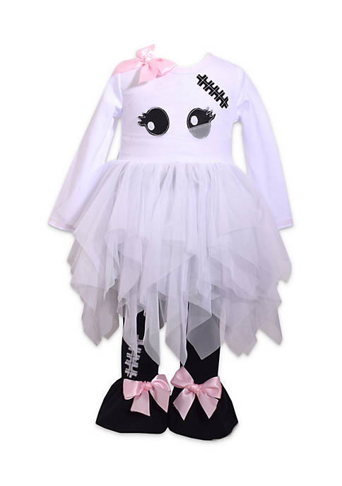 Bonnie Jean Toddler Girls Halloween Ghost Tutu Set