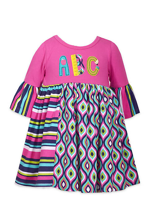Bonnie Jean Toddler Girls ABC Mixed Media Babydoll