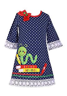Toddler Girls Bookworm Dot Shift Dress