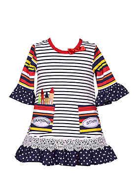 16e9b2d88 Bonnie Jean Toddler Girls Crayon Stripe Dress ...