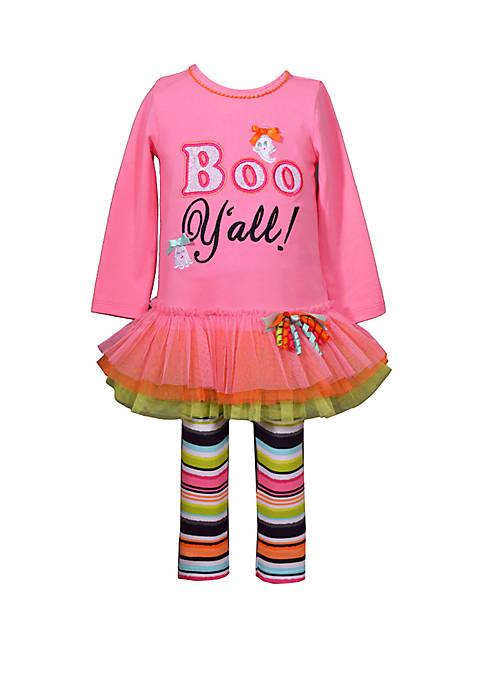 Bonnie Jean Toddler Girls Boo Yall Leggings Set