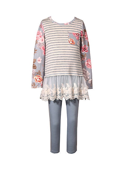 Bonnie Jean Toddler Girls Floral Top and Leggings
