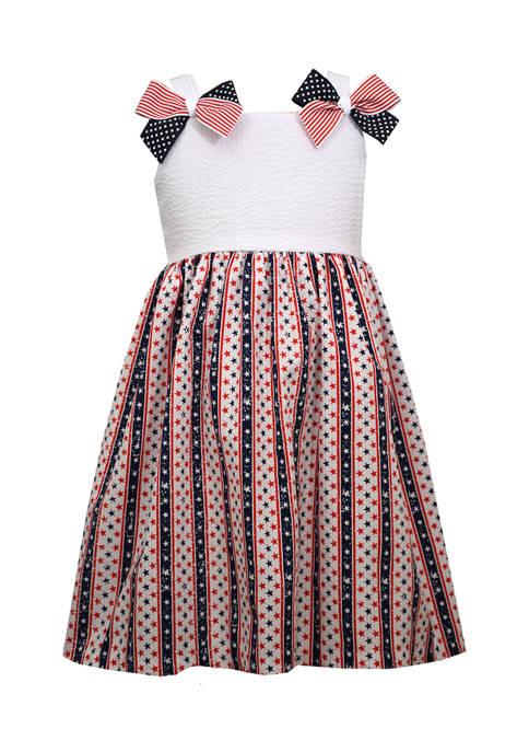 Bonnie Jean Baby Girls Sleeveless Americana Novelty Dress