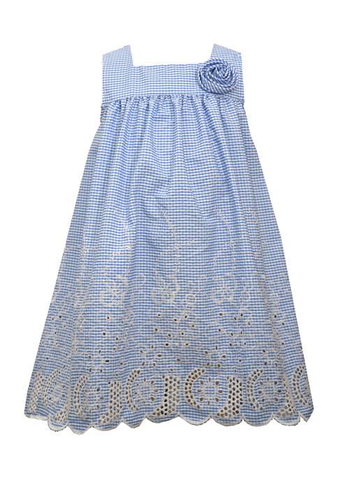Bonnie Jean Baby Girls Embroidered Seersucker Dress