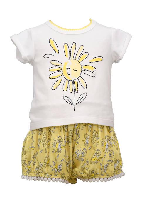 Bonnie Jean Baby Girls Happy Sun Shorts Set