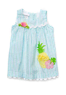 5ecf88c4f Bonnie Jean Baby Girls Seersucker Pineapple Dress Set ...