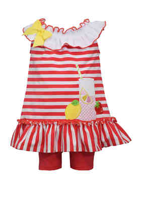 Baby Girls Clothes 2 Piece Magical Flowers Outfit  Romper Set T-Shirt Pink Red