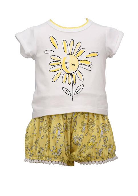 Toddler Girls 2 Piece Sunshine Top and Short Set