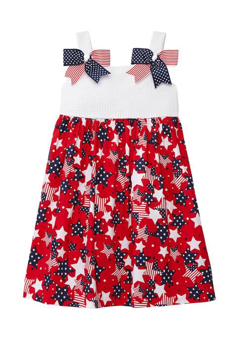 Bonnie Jean Toddler Girls America Bow Shoulder Dress