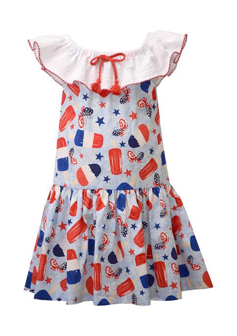 Bonnie Jean Toddler Girls Ruffle Neck Dress