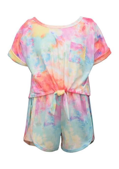 Bonnie Jean Toddler Girls Tie Dye Short Set