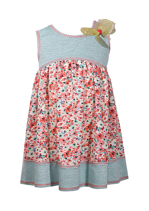Bonnie Jean Toddler Girls Mixed Print Promo Dress