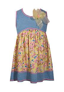 Toddler Girls Mixed Print Promo Dress