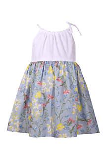 Girls 4-6x Eyelet Tank Floral Promo Dress