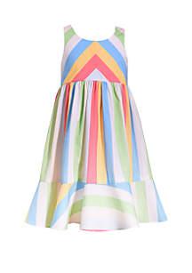 e945492433b ... Bonnie Jean Toddler Girls Poplin Multi Stripe Sundress