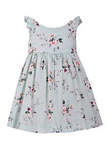 Bonnie Jean Toddler Girls Floral Flutter Sleeve Dress