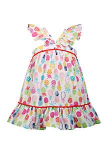 Bonnie Jean Toddler Girls Pineapple Flounce Sundress
