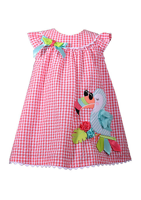 Toddler Girls Toucan Seersucker Dress